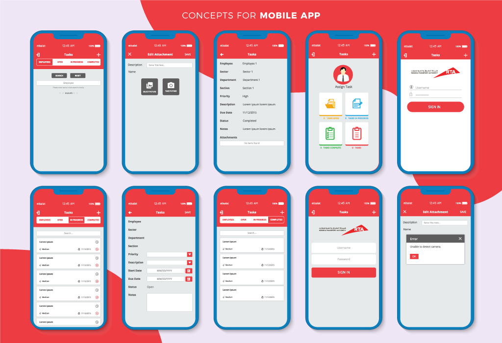 RTA App Design